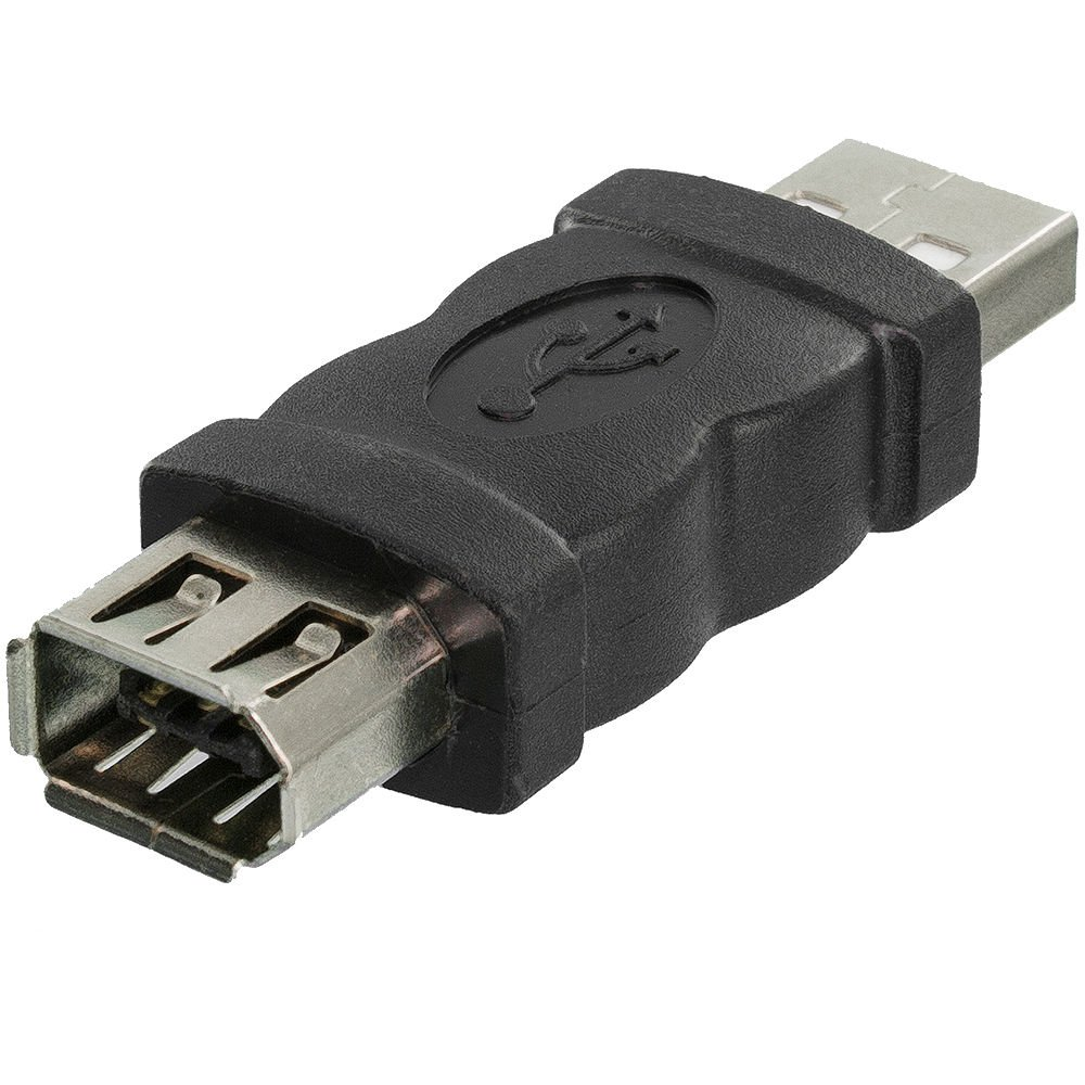 JNSupplier Firewire IEEE 1394 6 Pin Female F to USB M Male Cable Adapter Converter