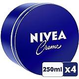 NIVEA Crema para Todo Uso (Cuerpo, Cara, Manos) - 250 ml - 4 unidad