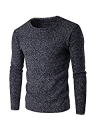 HEMAY Men Winter Warm Sweater Casual Pullovers Comfortable Knitted Sweater