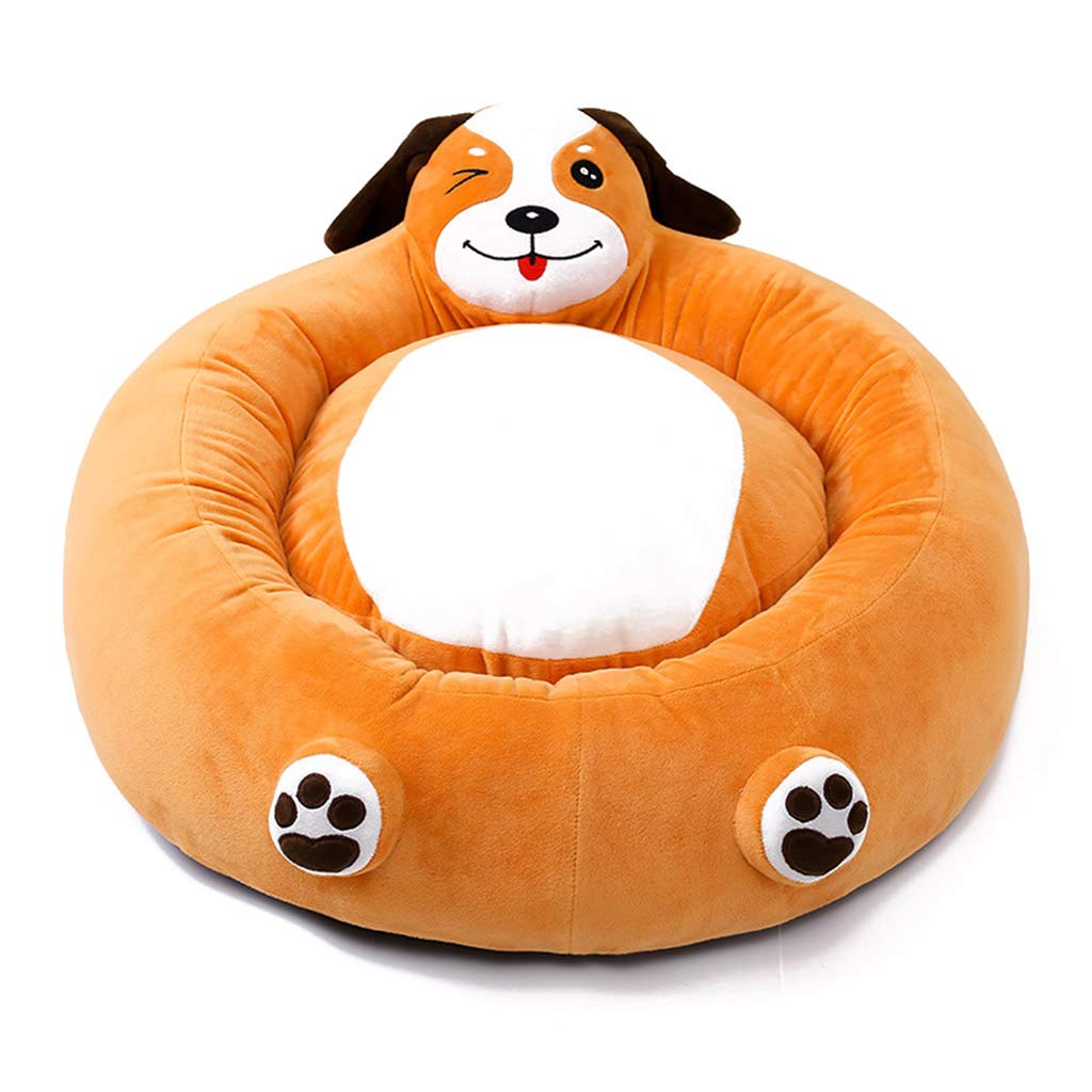 orange 64cm17cmSile Pet Bed, Indoor Removable and Washable Cartoon Dog Bed Cat Nest Pet Soft Cushion Breathable Pet Sofa SL024 (color   orange, Size   64cm17cm)