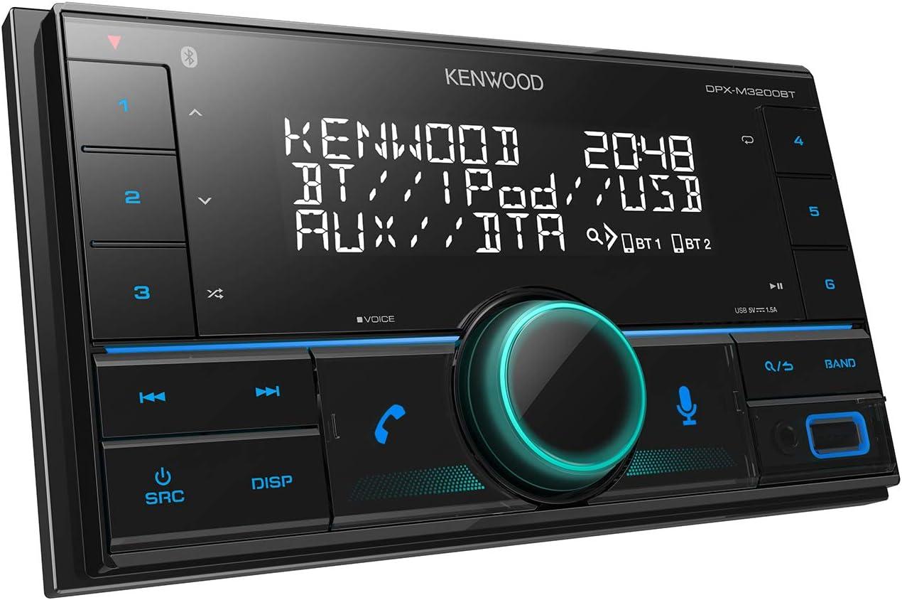 50 W 50 W 30-15000 Hz Kenwood DPX-M3200BT r/écepteur multim/édia de Voiture Noir 50 W Bluetooth 4.0 canaux Noir Kenwood DPX-M3200BT 2 DIN