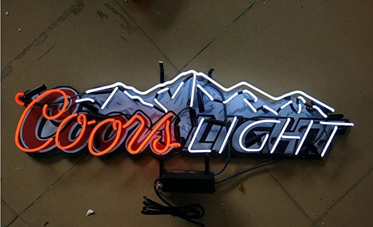 Coors light beer neon signs 37w x 11h inch neon lights made coors light beer neon signs 37w x 11h inch aloadofball Images