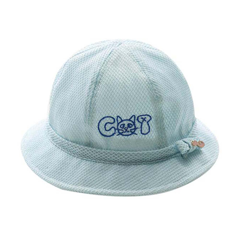 ef1cef151 Amazon.com : Foldable Beach Hat Lovely Sunhat Great Gift Blue Summer ...