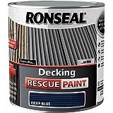 Ronseal DRPDB25L 2.5 Litre Decking Rescue Paint - Deep Blue