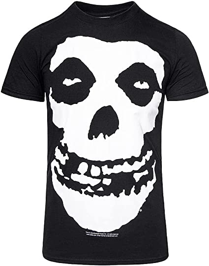 Black Misfits Skull Logo Punk Rock Heavy Metal Oficial Camiseta para Hombre: Amazon.es: Ropa y accesorios