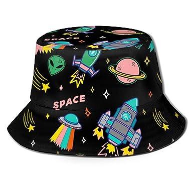 Molelanki Aliens Space UFO Unisex Cool Bucket Hat Gorra de ...