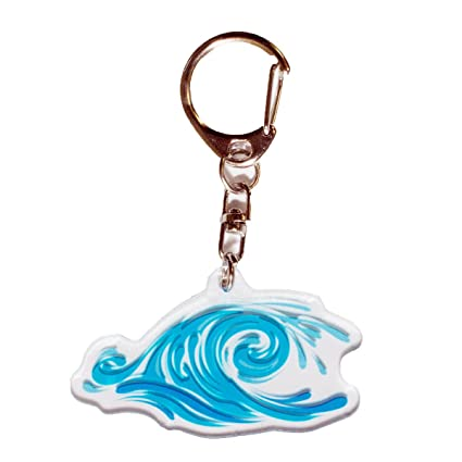 Amazon.com: Ninja Pickle Studios Blue Wave Acrylic Keychain ...