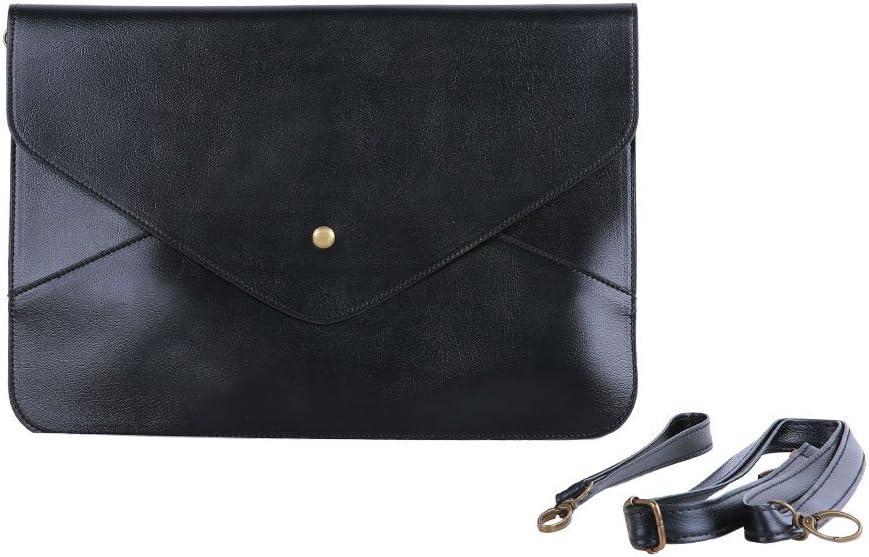 Elegant Ladys Womens Envelope Clutch Chain Purse Handbag Shoulder Hand Tote Bag-Black With Accessory Womdee TM