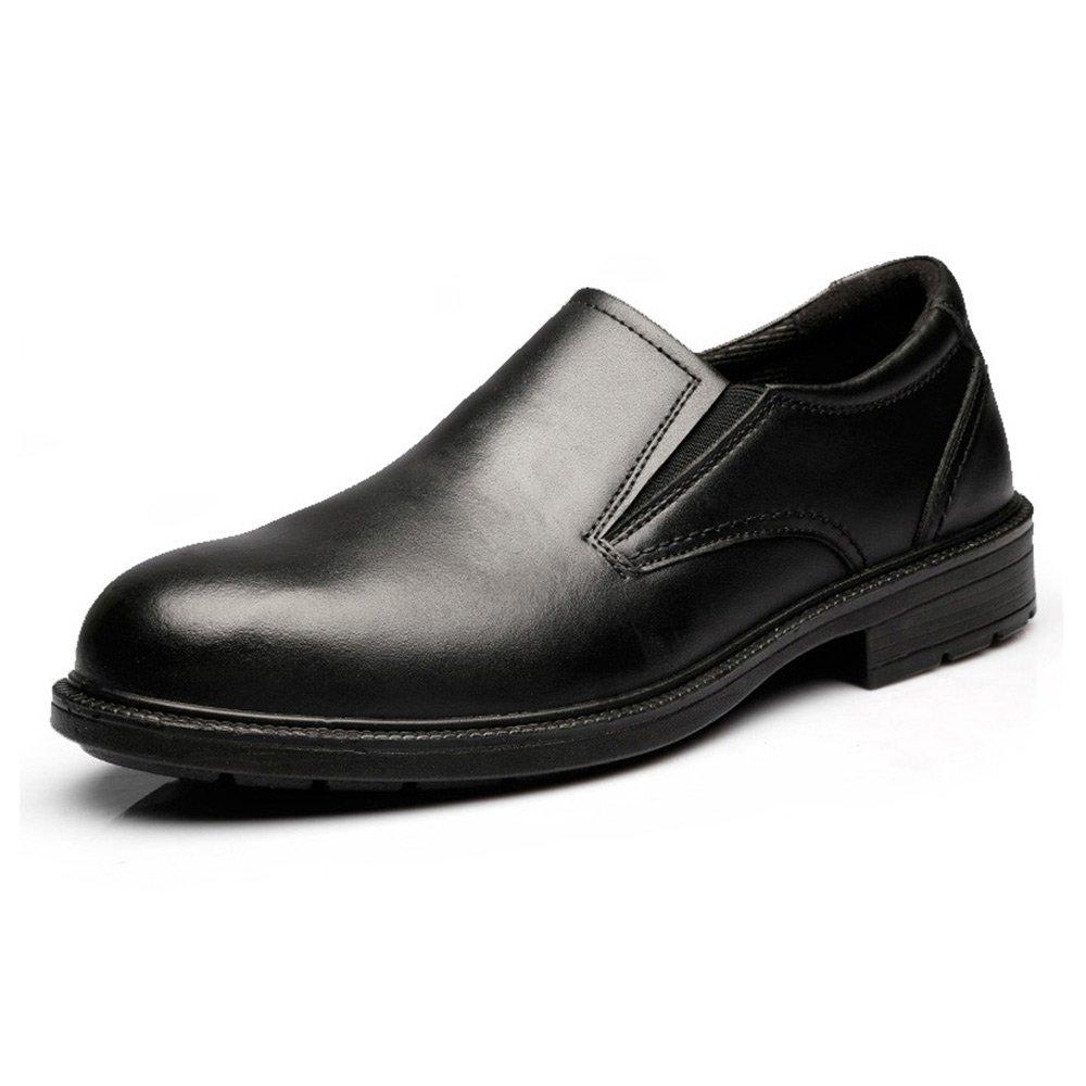 JACKBAGGIO Men's Black Slip-on Oxford Work Shoe 8815 by JACKBAGGIO