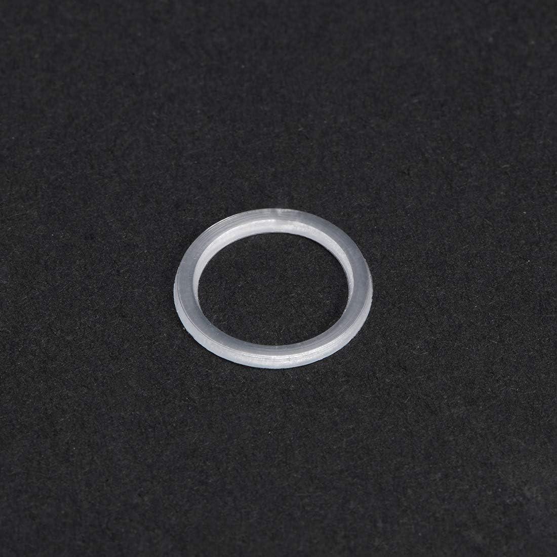Metrische Unterlegscheiben Nylon f/ür M18 Schraubenbolzen 1mm Dicke Klar sourcing map 50 Stk