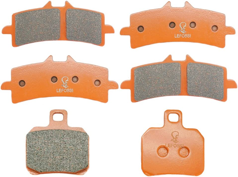 Lefossi Front Rear Carbon Fiber Brake Pads Brakes for KTM Naked Bike 1290 SUPER DUKE R 2014-2016 1190 RC8 R 2008-2014 FA447F FA447F FA266R