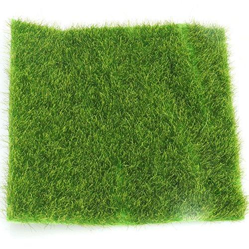 Artificial garden grass lawn moss miniature craft pot for Faux grass for crafts
