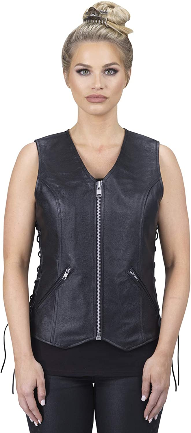 Viking Cycle Haughty Max 70% OFF Top Grade Cowhide - Vest Max 41% OFF For Women Leather