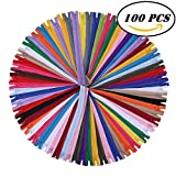#4: 12 Inch Zippers - Nylon Coil Zippers Bulk - Supplies for Tailor Sewing Crafts - Pack of 100