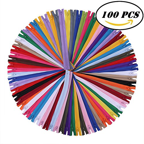 12 Inch Zippers - Nylon Coil Zippers Bulk - Supplies for Tailor Sewing Crafts - Pack of 100