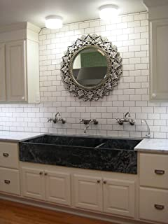 Merveilleux White 3x6 Subway Tile Backsplash, Kitchen, Walls, Countertop, Bathroom,  Herringbone,