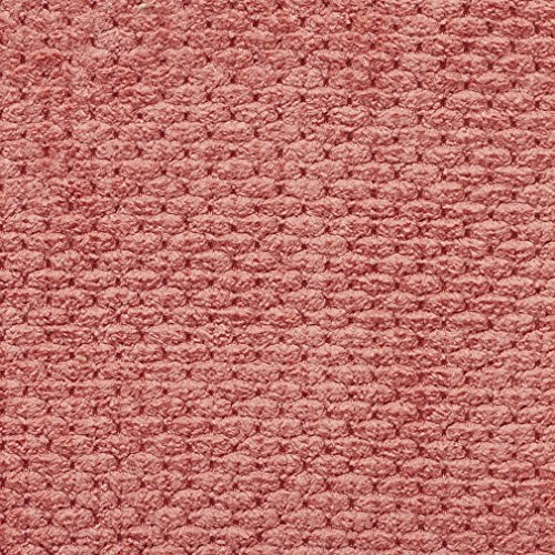 Salmon Pink Solid Raised Texture Chenille Upholstery Fabric by the yard