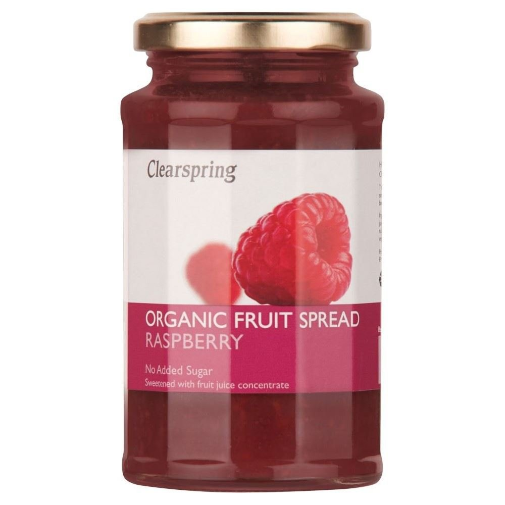 Clearspring Organic Raspberry Fruit Spread (290g) - Pack of 6 by Clearspring (Image #1)