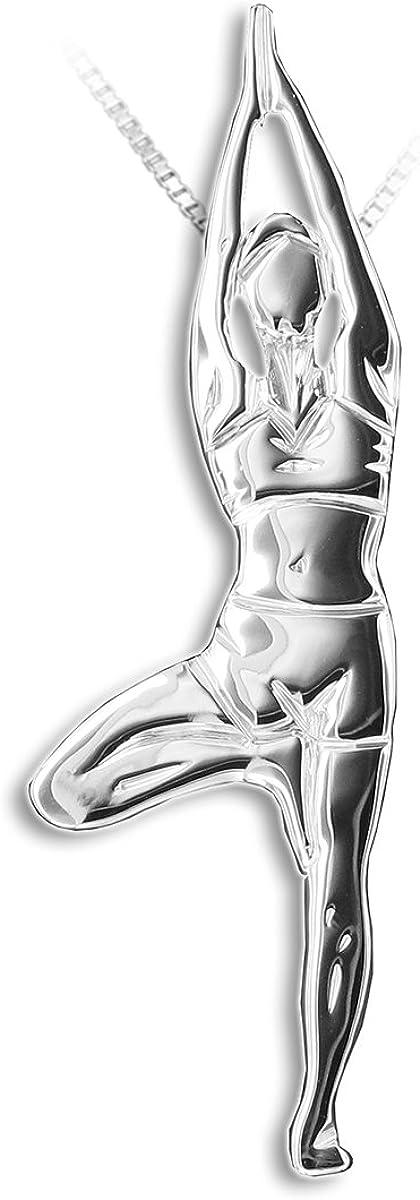 "Yoga jewellery pendant Superior VRKASANA Max 40% OFF tree balance ""The pose between"