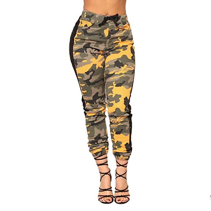 Pantalones Militares Mujer morados Verde Tiro Alto Cintura Alta Otoño Invierno PAOLIAN Pantalones Leggings Deportivos Pantalones Camuflaje de Trabajo Mujer ...