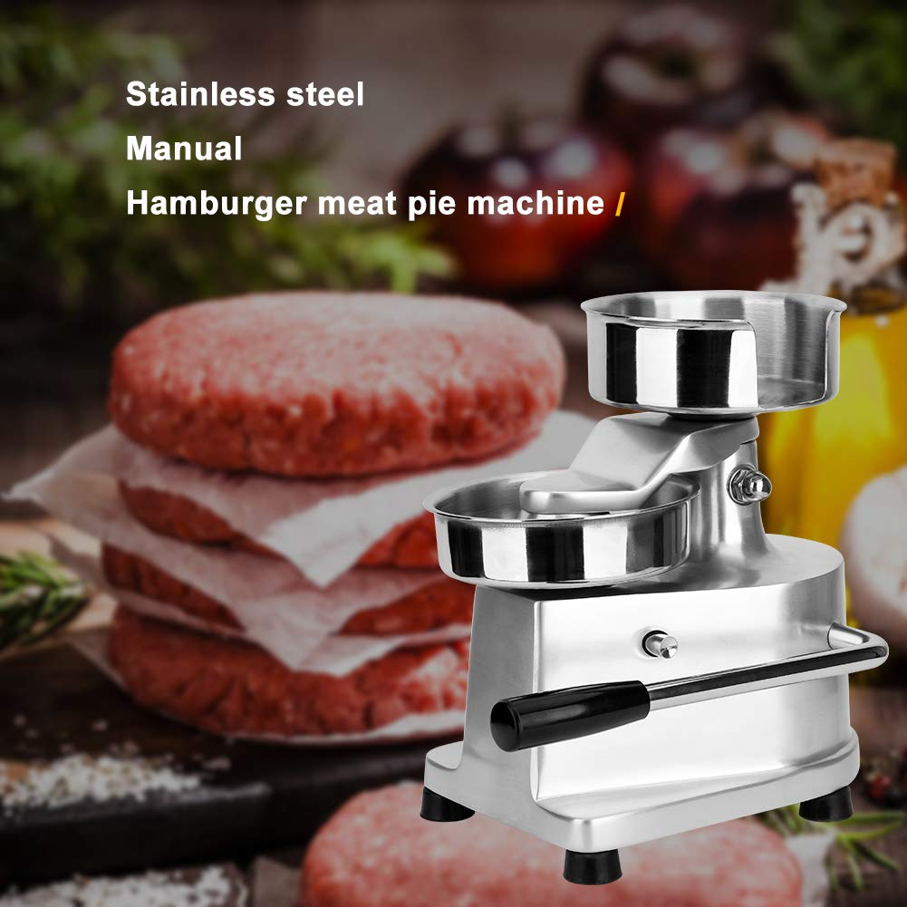Commercial Hamburger Press Patty Maker Home Large Manual Burger Forming Machine Stainless Steel Grill Burger Press Tool with 500 Greaseproof Papers, 5inch Burger by Rbaysale (Image #5)