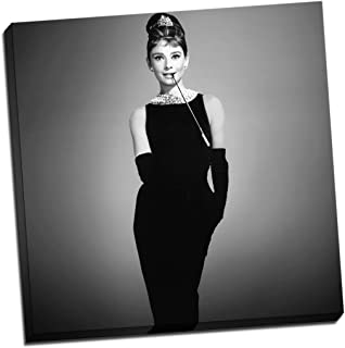 Audrey Hepburn with Sunglasses Black /& White Canvas Wall Art Picture Print 36x24in
