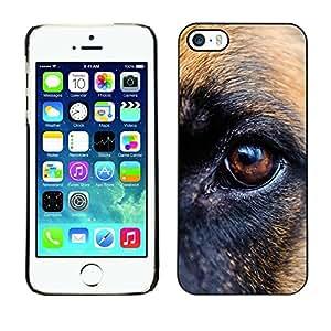 Be Good Phone Accessory // Dura Cáscara cubierta Protectora Caso Carcasa Funda de Protección para Apple Iphone 5 / 5S // German Shepherd Eye Brown Dog