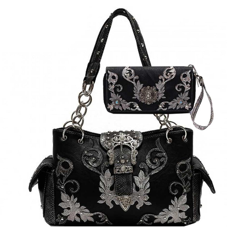 Western Belt Collection Purse and Wallet Set, Concealed Gun Handbag