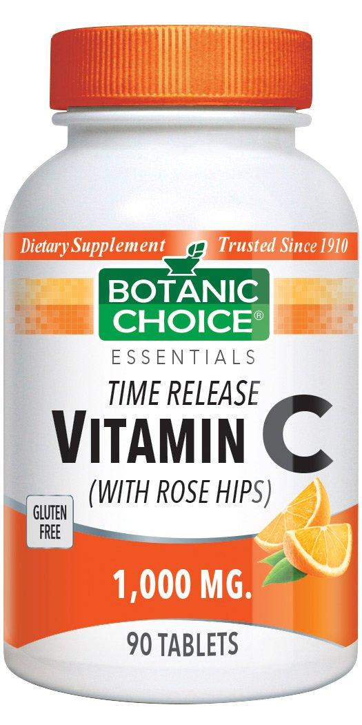 Botanic Choice Vitamin C 1000 mg, 90 Tablets (Pack of 4)