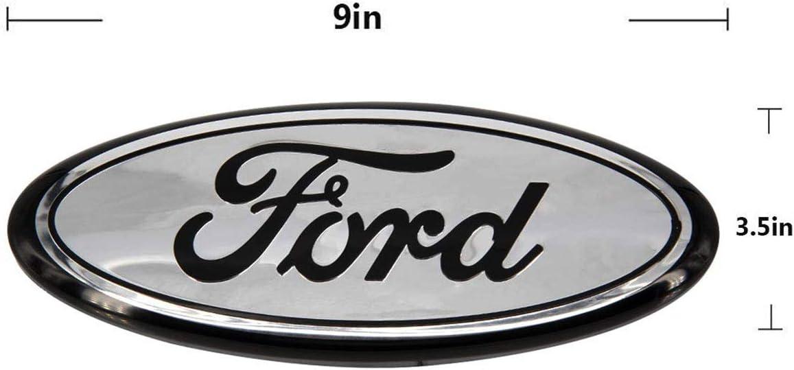 11-16 Explorer 11-14 Edge Chrome 06-11 Ranger 9inch Front Grille Oval Emblem Badge Nameplate fit for Ford F250 F350