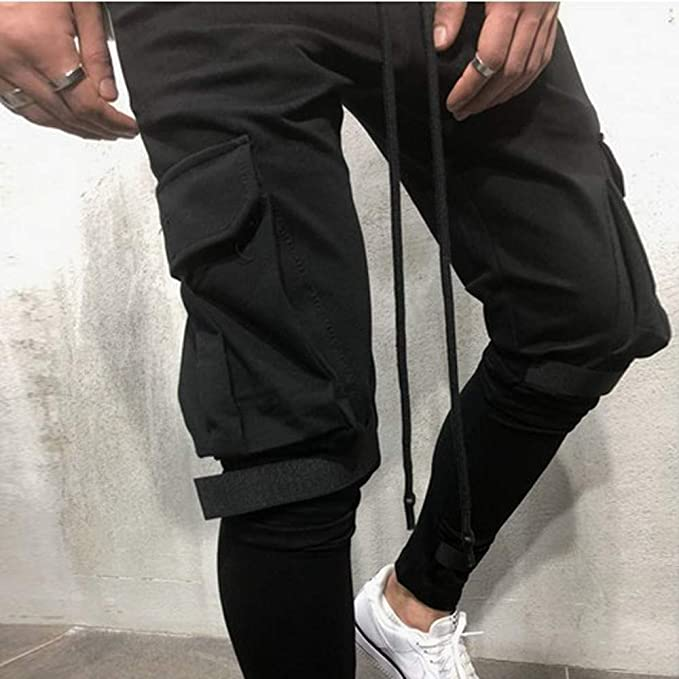 ... Grey Pants Black Pants Formal Business Trousers Trunks Pure Color Pocket Overalls Casual Pocket Sport Work Casual Trouser Pants: Amazon.co.uk: Clothing