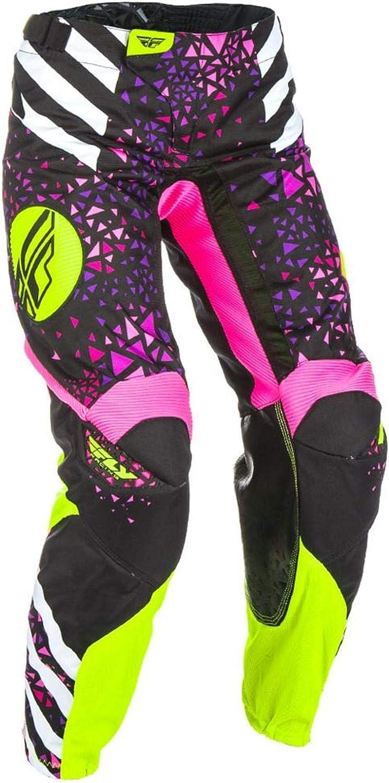 Fly Racing YOUTH GIRLS KINETIC RACE PANTS SIZE 26 Neon//Pink//Hi Viz