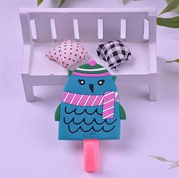 Blueqier Toalla Portatil Gancho Ganchos de baño de Dibujos Animados Bufanda de Gancho de pájaro Gancho Adhesivo de Pared Gancho para baños de Cocina: ...
