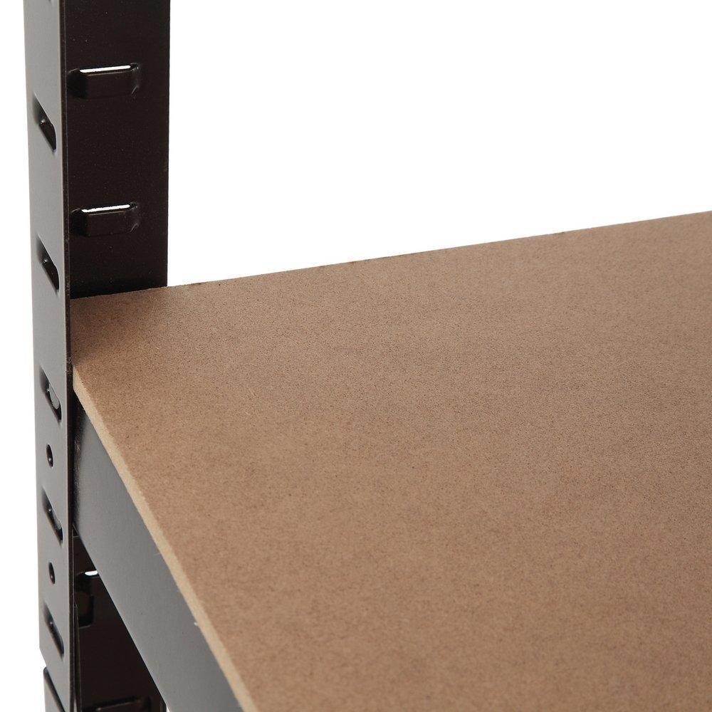 150 x 70 x 30 cm Schwarz 175 kg pro Regal f/ür Garage schlankes Design EAZILIFE Regal mit 5 Etagen Schuppen etc