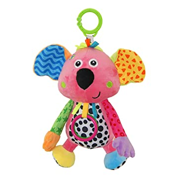 Happy Cherry - Juguete Musical Colgante para Bebé Animal Koala Infantil Peluche Felpa de Cochesito Cuna