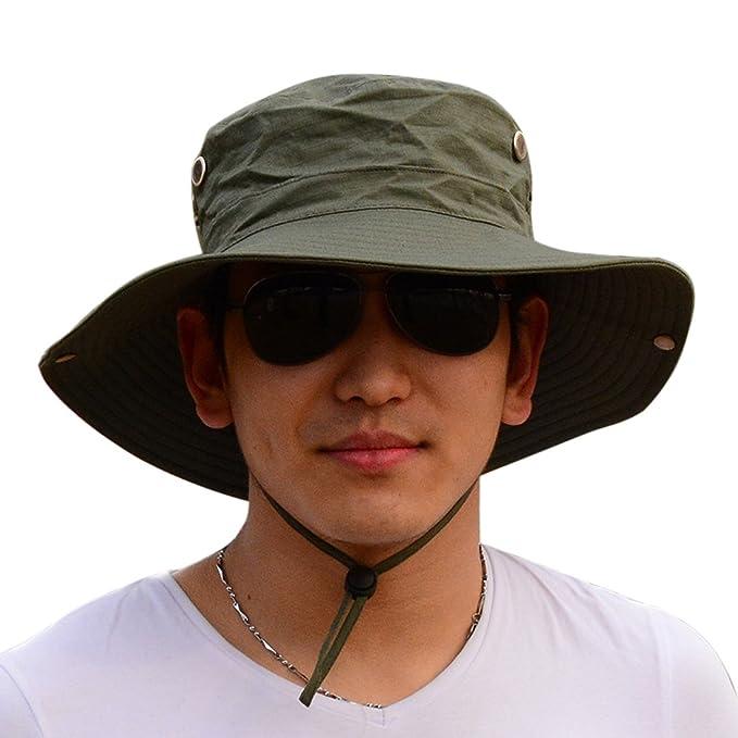 Amazon.com  Men Cowboy Sun Protection Cap a01e4ebd7f8
