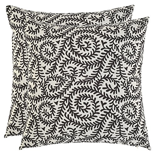 Artcest Set of 2, Decorative Cotton Blend Jacquard Bed Throw Pillow Case, Sofa Durable Paisley Pattern, Comfortable Couch Cushion Cover (Taupe, 18 X 18 -