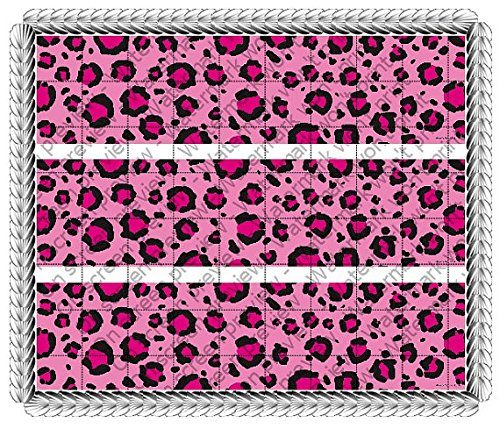 Hottie Spots Pink Leopard Congratulations Birthday Bachelorette Wedding Celebration Cake Borders Designer Prints Edible Image Cake Decoration