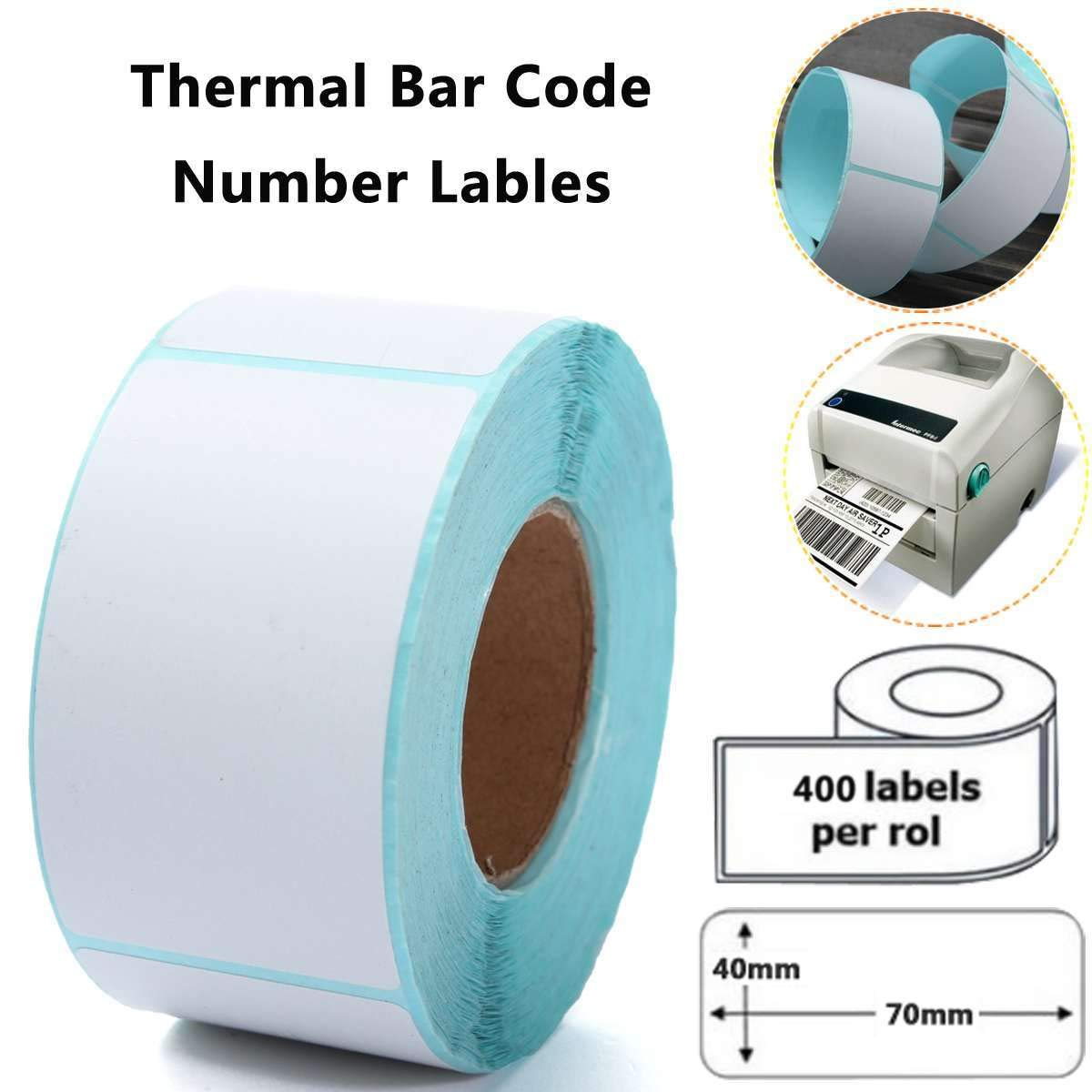 400PCS Printing Label 40x70mm Barcode Number Thermal Adhesive Paper Sticker for Printer Supplies by Beizuu (Image #6)