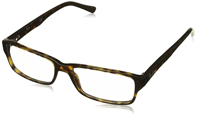 c6f75b9071 Ray-Ban Men s 0rx5169 No Polarization Rectangular Prescription Eyewear  Frame Dark Havana 52 mm