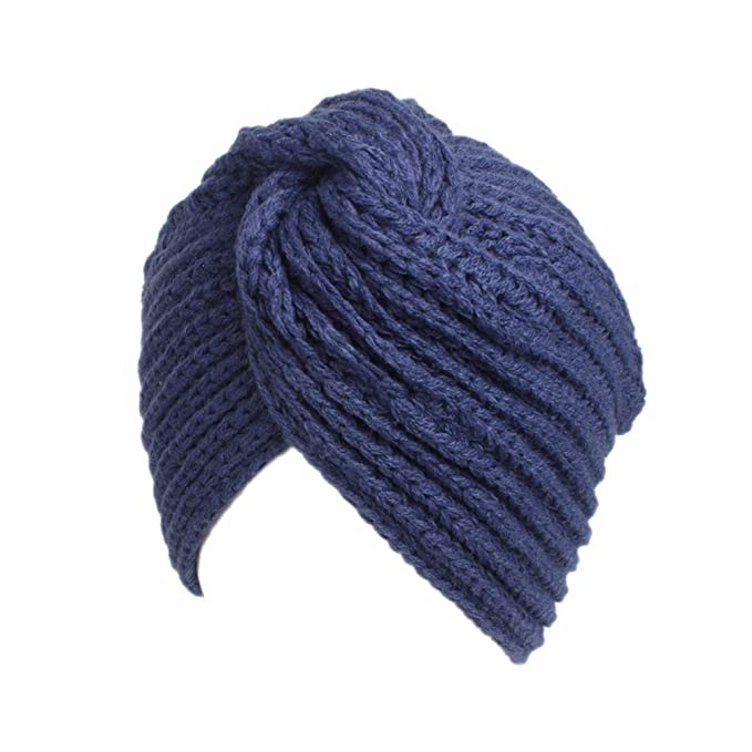 65469647b6ee3 Image Unavailable. Image not available for. Color  TINKSKY Women Winter  Warm Turban Soft Knit Headband Cross Twist Arab Hair Wrap Hat ...