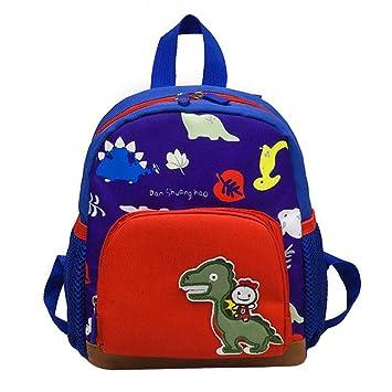 Gorgebuy 1244/5000 Mochila para niños pequeños - Cute 3D Dragon Dinosaur Kindergarten Schoolbags - Bolsas de Dibujos Animados para bebés de 1 a 5 años: ...