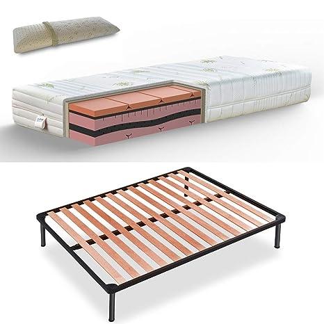 Materassi Memory Foam Soia.Kit Rose Rete A Doghe Materasso Memory Multionda A 7 Zone H25 Con 4 Cm