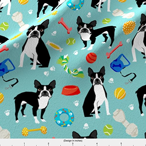 Spoonflower Boston Terrier Fabric Boston Terrier Toys, Dog Toy, Cute Dogs Dog Toys Best Dog Fabric For Home Decor Textiles by Petfriendly Printed on Basic Cotton Ultra Fabric by the Yard - Boston Terrier Fabric