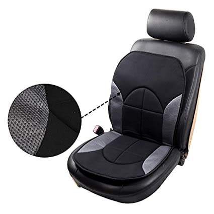 Stretchy Universal Seat Cushion W//Steering Wheel Cover Breathable Automotive Accessories Washable Polyester for Most Cars OCPTY Car Seat Cover Black//Blue