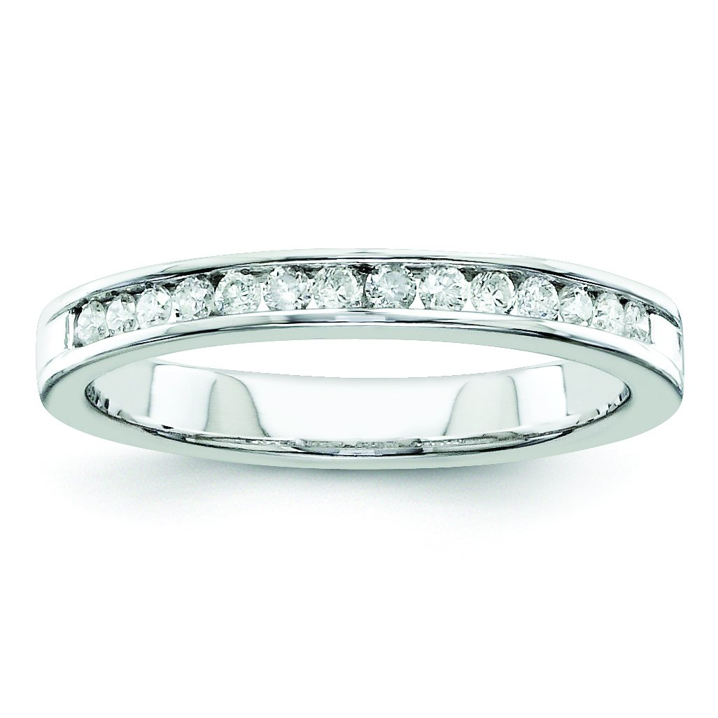 925 Sterling Silver H-SI2 Half Eternity Engagement Diamond Ring Size 6 (0.25ct)