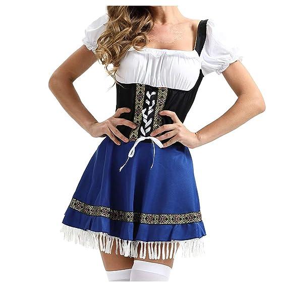 Goosun Dirndl Traje Tradicional de Tirolesa Vestido Moda ...