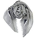 Lady's Ethnic Fringe Lace Thick Cotton Soft Spring Scarf