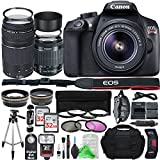 Canon EOS Rebel T6 Digital SLR Camera with 18-55mm EF-S f/3.5-5.6 IS II Lens & EF 75-300mm f/4-5.6 III Lens + Professional Gold Bundle Review