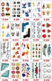 MT20PCS-toxic waterproof adult children small temporary tattoo stickers cute cartoon characters face sticker reward Tricky Funny dedicated Disposable Tattoo (KTB)